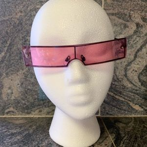 Pink Rectangle Sunglasses with Black Rim